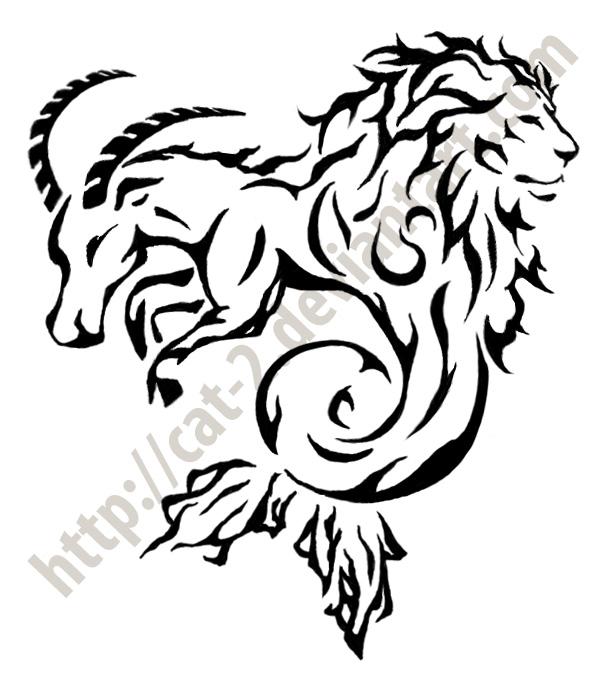 Leo Capricorn Tattoo Designs