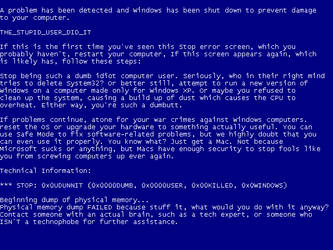 Insulting BSOD