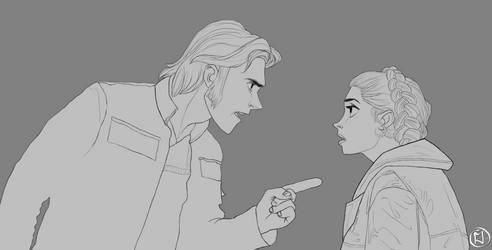 Hans Olo and Elsa Organa