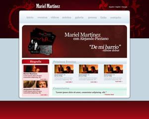 Mariel Martinez Website (mock)