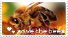 save the bees stamp by sat5uki