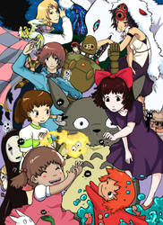 Silkscreen: Miyazaki Love by AkitheFrivolicious