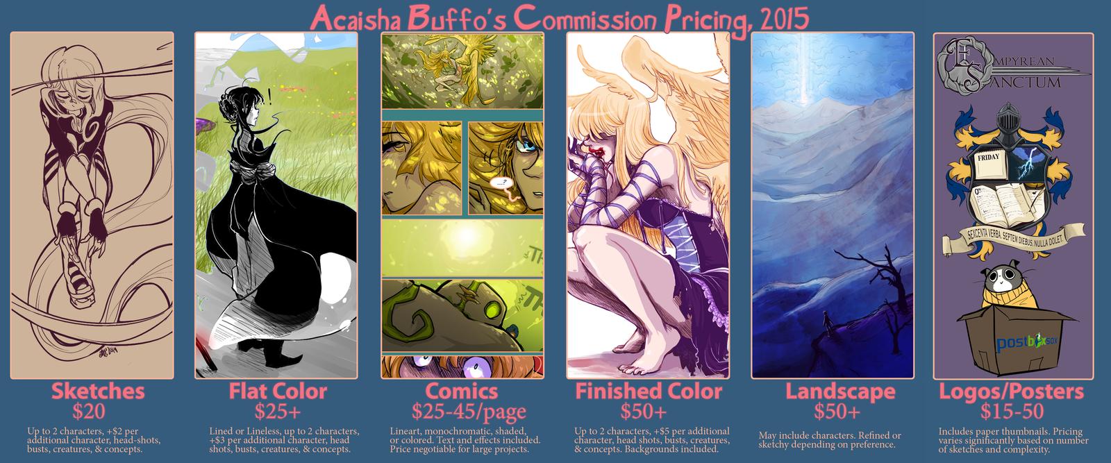AkitheFrivolicious' Commission Pricing Chart, 2015 by AkitheFrivolicious