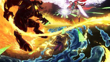 Nexus Clash: Cover Art by AkitheFrivolicious