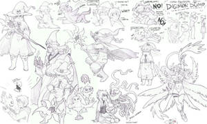 Digimon Pencil Dump #2