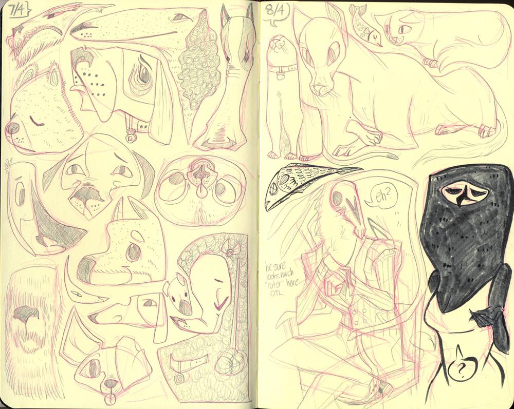 Moleskine Doodlings by reimena
