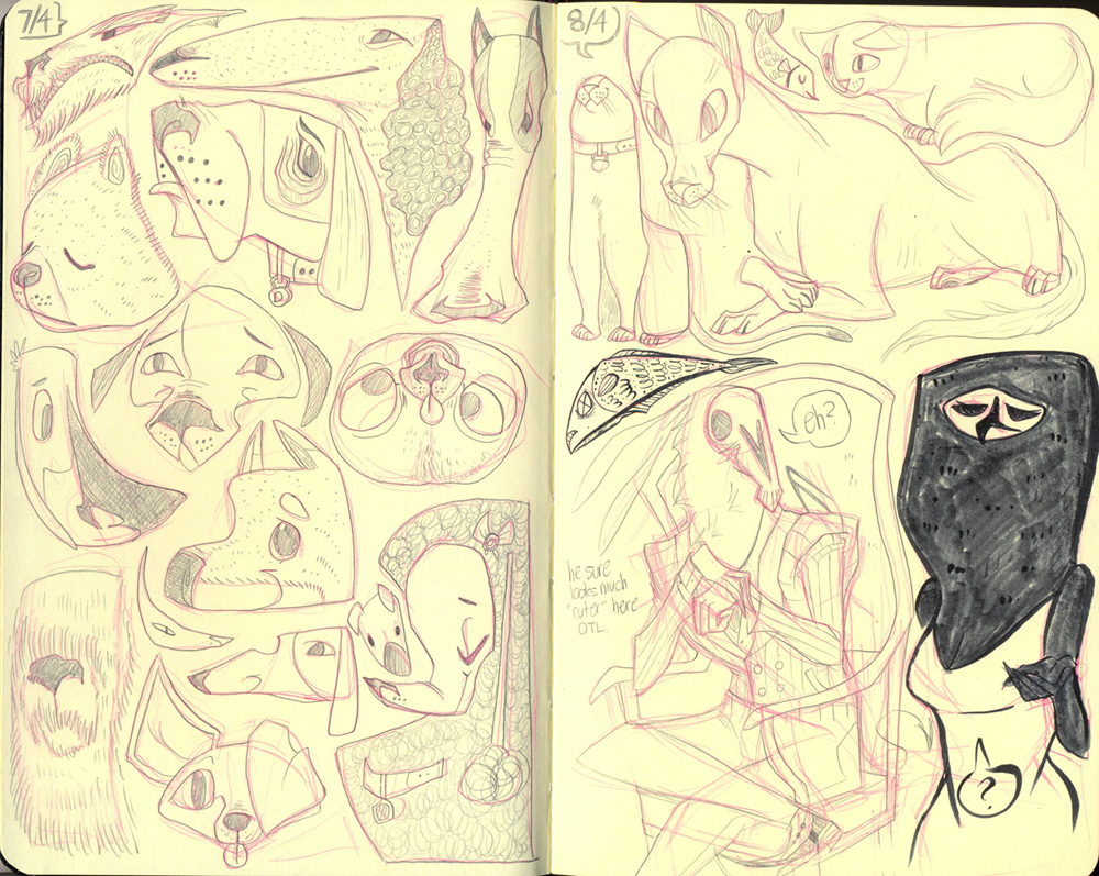 Moleskine Doodlings by callupish