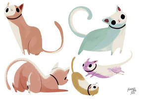 Cat Character Design by reimena
