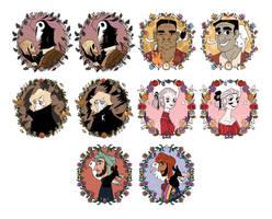 Updated TWiDI Cast Portraits by reimena