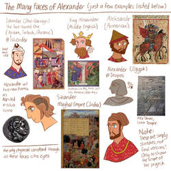 Many Faces of Alexander by reimena