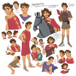 Hephaestion Character Design by reimena
