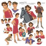 Hephaestion Character Design