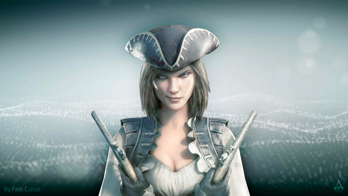 Lady black from assassin's creed 4 online  adult comics