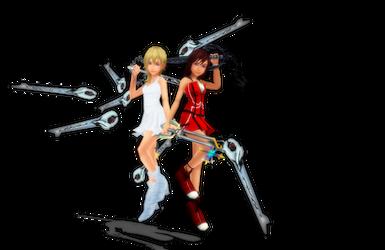 Dead Fantasy-Kairi and Namine by danit09182