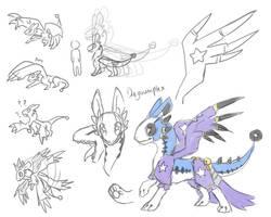 Species Dragoumplex ref (Update) by onigiryStuff