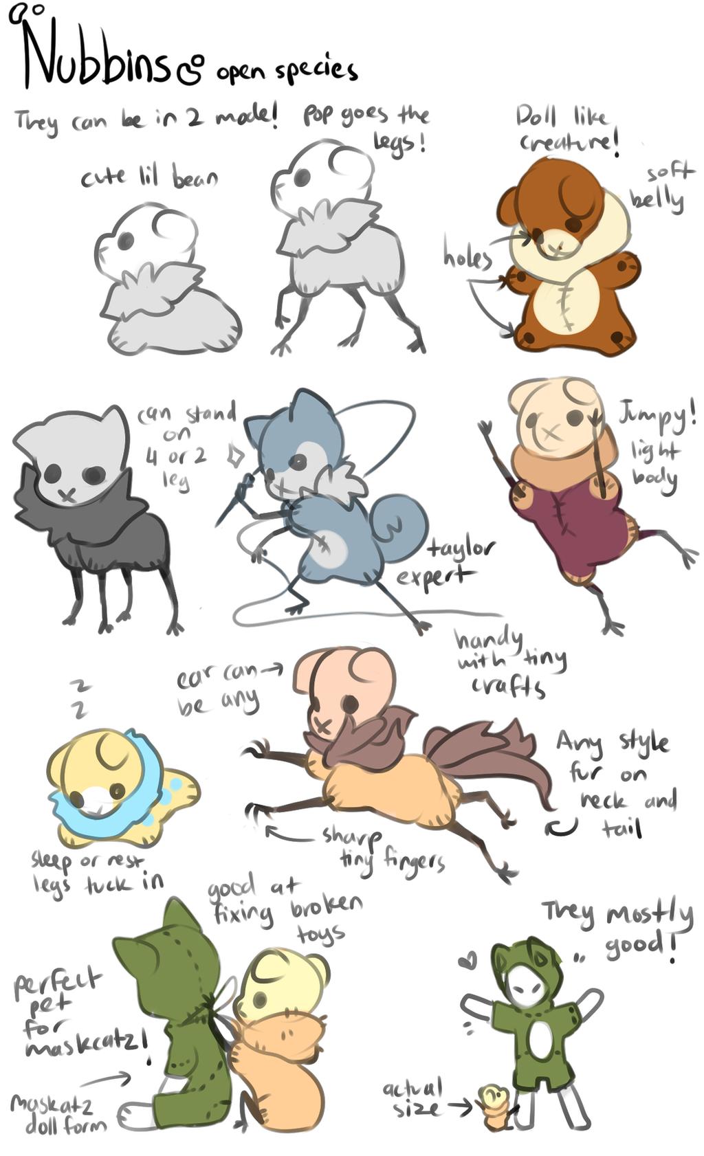 Nubbins open species! by onigiryStuff
