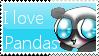 I love Pandas Stamp