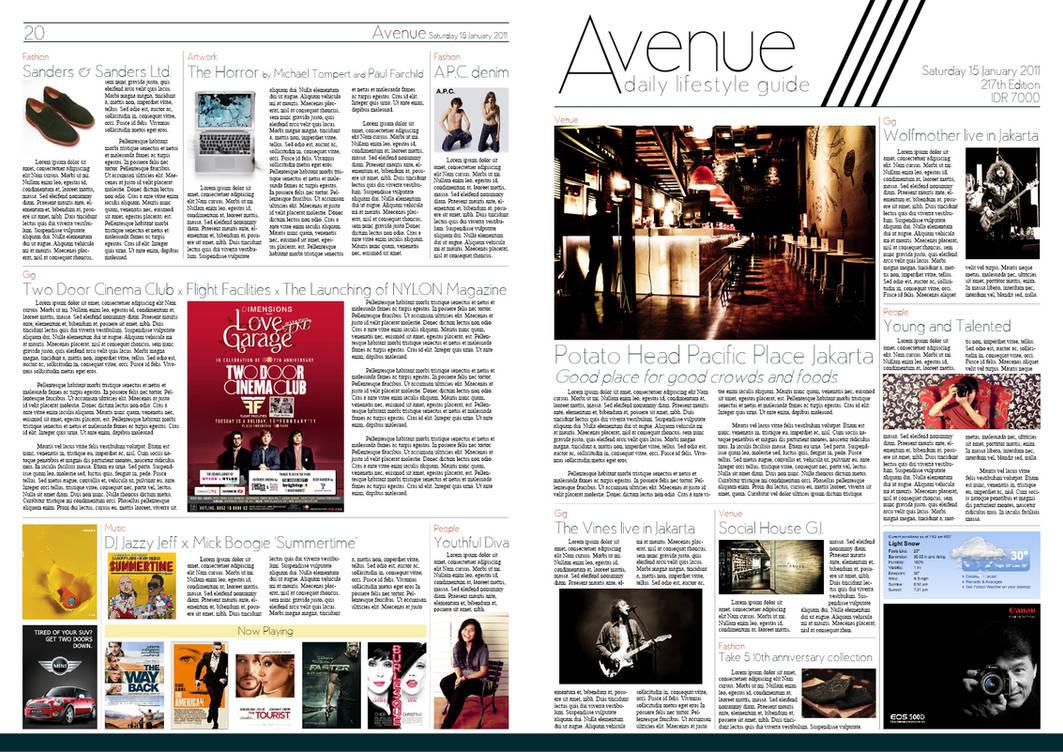 Newspaper layout - Avenue