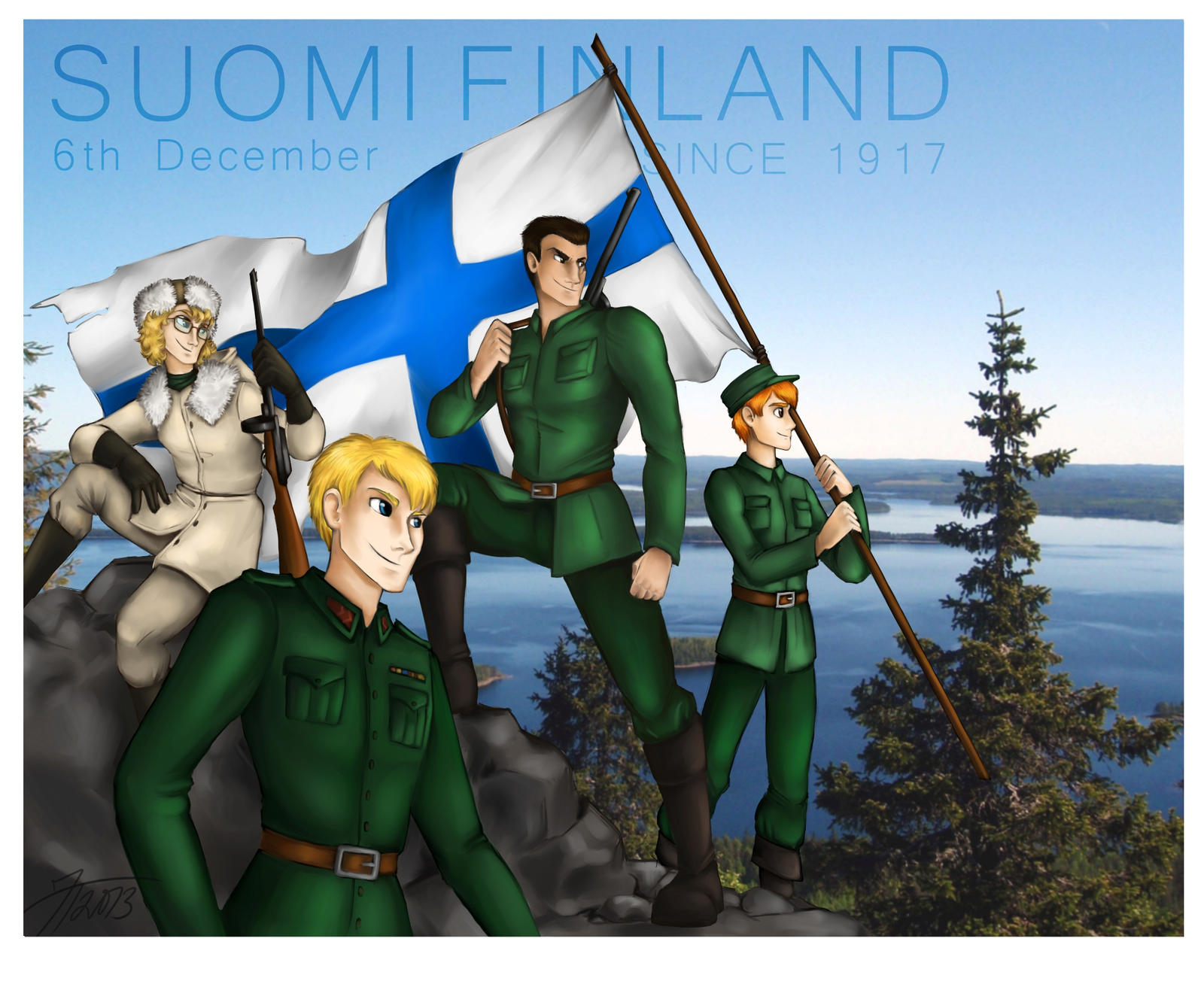 Finland Independence Day 2013 by CuriousCucumber on DeviantArt