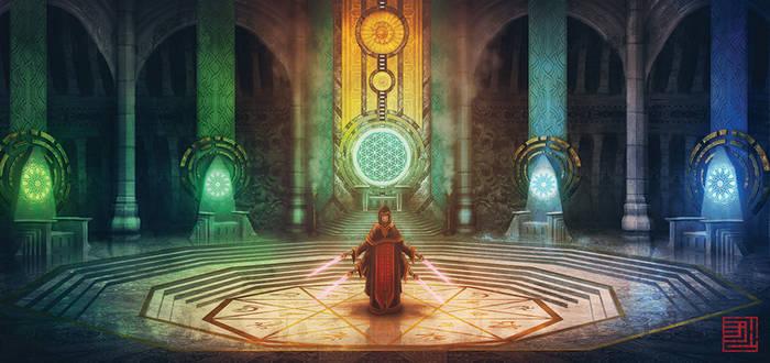Hiyalef, Builder of Galaxies Cover Art