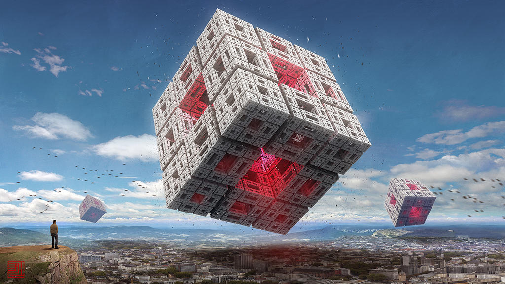 Invasion of the Cubeships (Variation 1) by Julian-Faylona