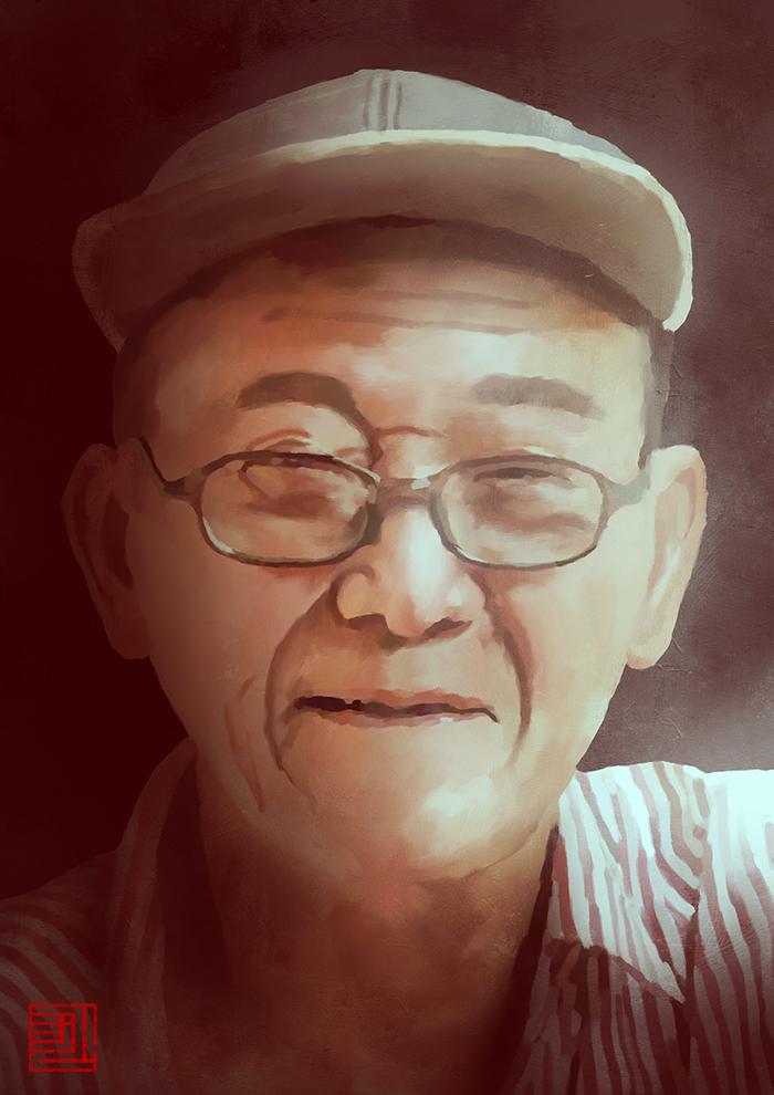 Grandpa by Julian-Faylona