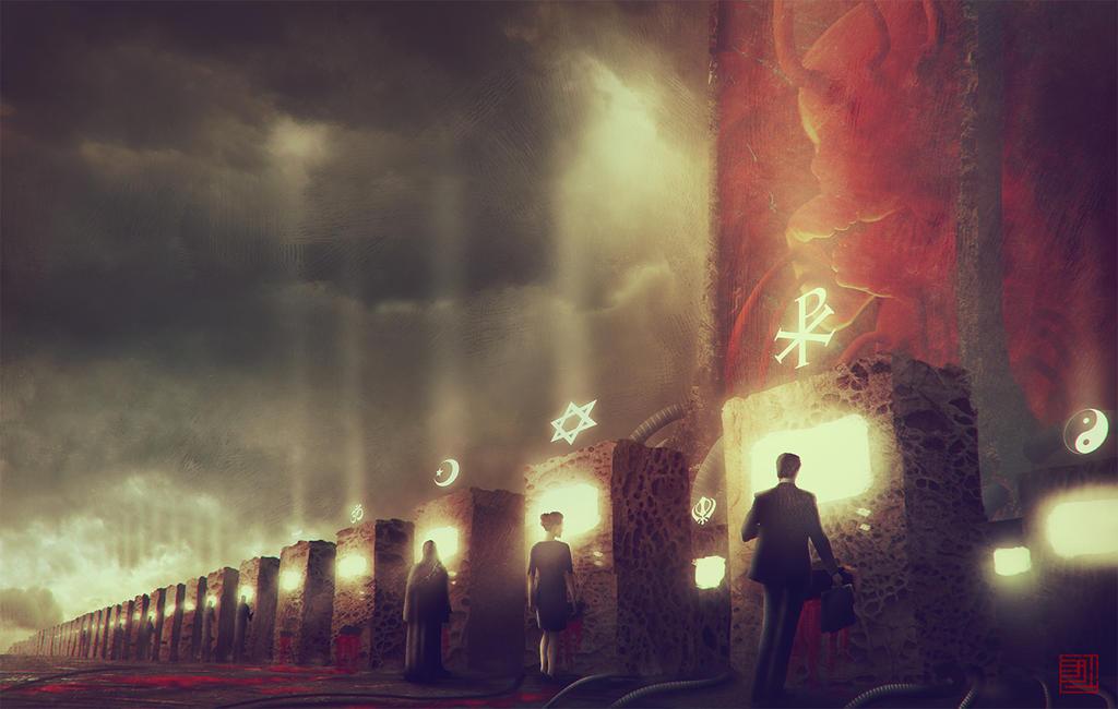 The God Machine by Julian-Faylona