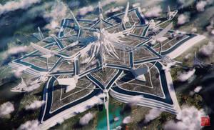 Svarga Mega Acropolis by Julian-Faylona