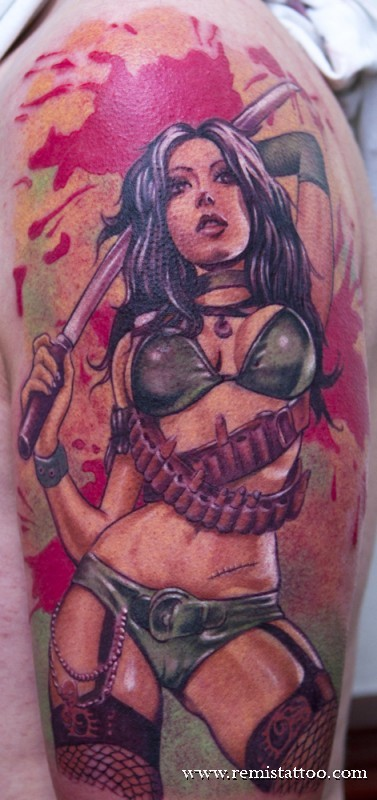 Asami tattoo by guillotinemaster75