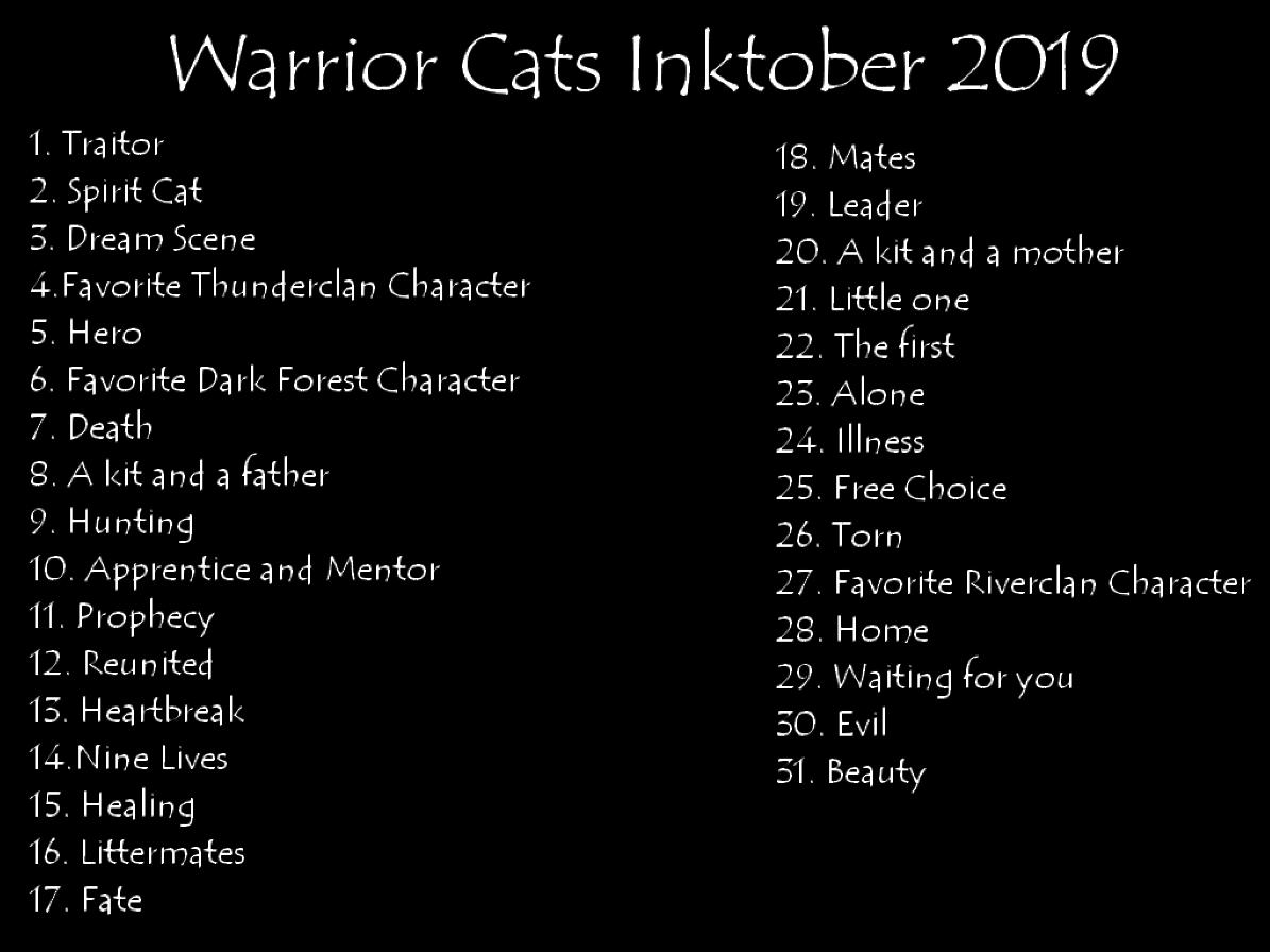 Inktober 50 Unofficial Prompts