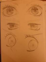 Anime Eye Sketches by LotusThePirate