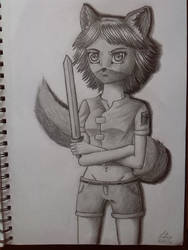 The Foxy Warrior by LotusThePirate