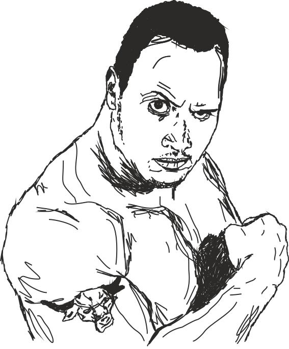 Dwayne The Rock Johnson Coloring