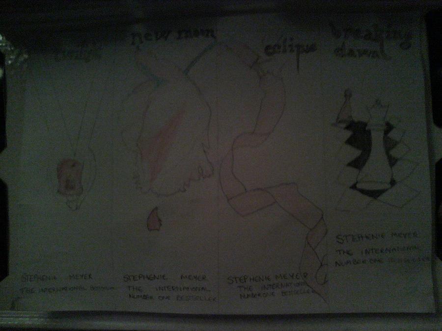 Twilight Saga Books Twilight Saga Book Drawings by