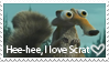ADORABLE Scrat Stamp