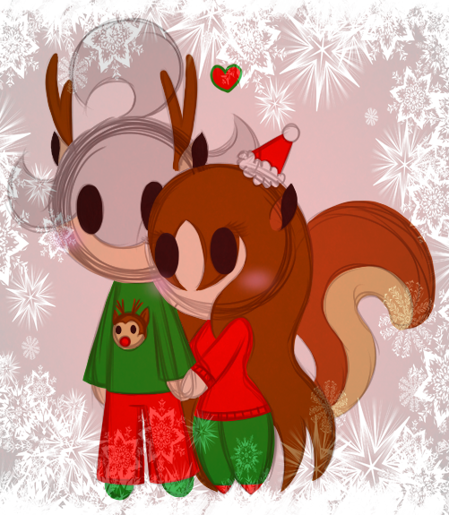 Scrat/Scratte - Christmas Chibies by PuccaFanGirl