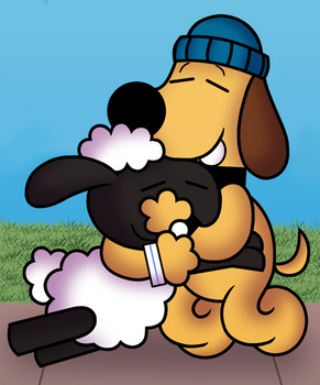 Shaun and Bitzer - Peanuts Style