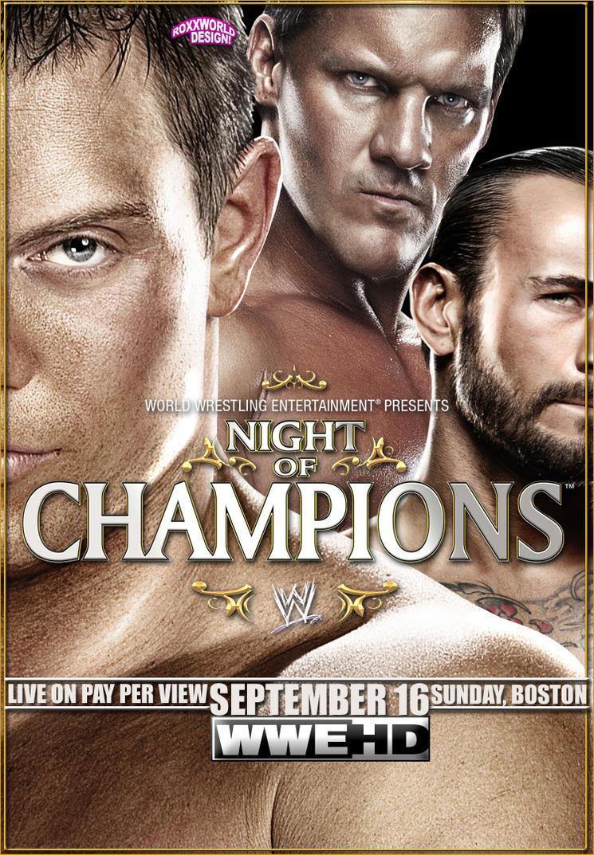 Night of Champions (2012) - Poster - WWE - Artwork by roXx81