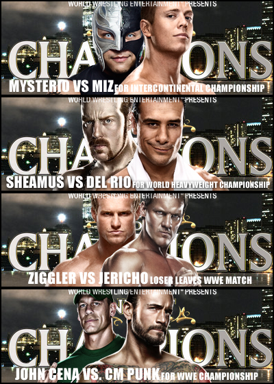 Night of Champions (2012) - Matchcard - Artwork by roXx81