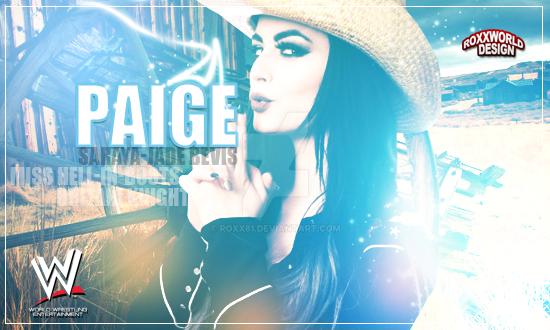 Paige-Artwork WWE by roXx81