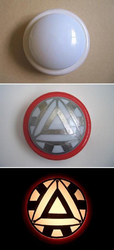 Iron Man Push Arc Light by iliketodoodle