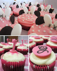 First Birthday Minnie Mouse Cupcakes