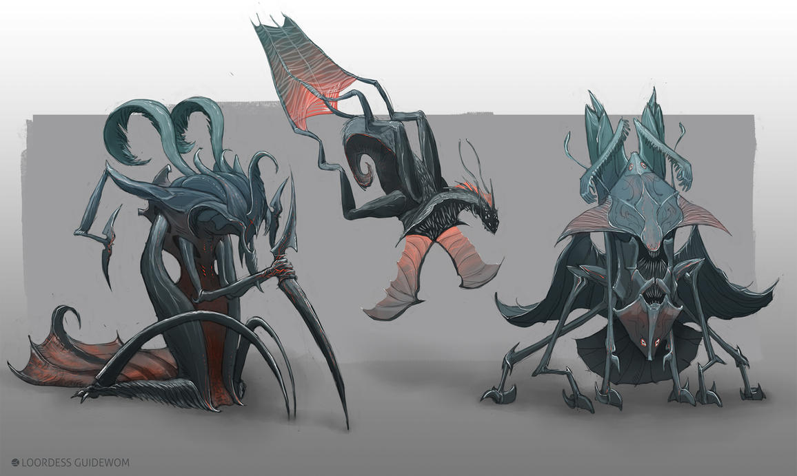 Underwater Creatures(concept) by Guidewom