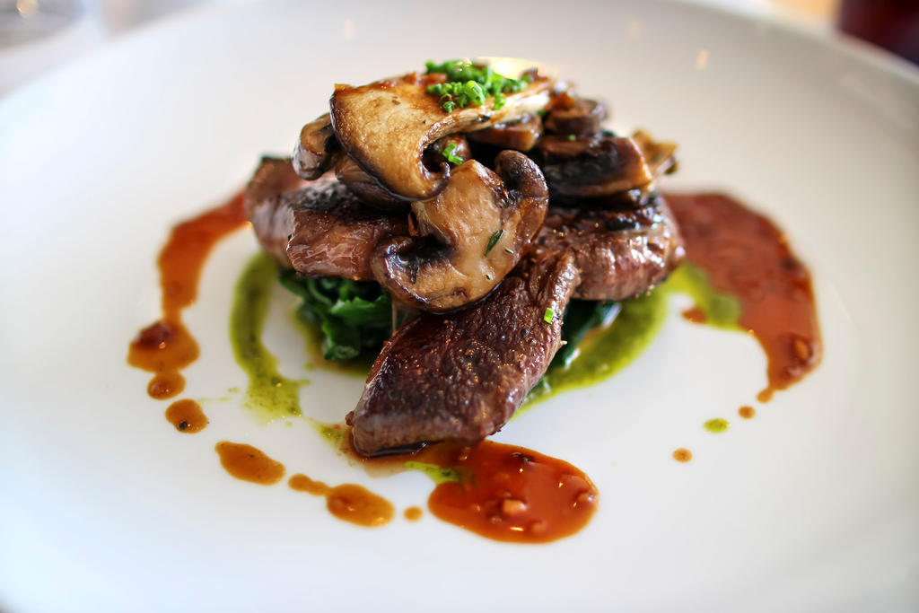 Steak with Red Wine Jus and Wild Mushrooms by NeroDesign on DeviantArt
