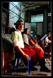 Chinese Opera Smoking Man