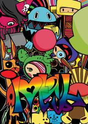 Coloring Toki-doki line art