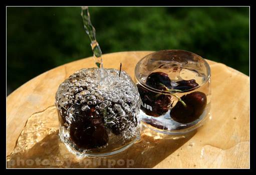 cherries in water