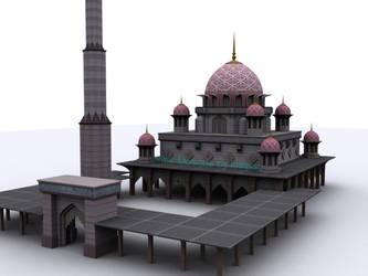 3D Pink Putrajaya Mosque