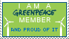 Greenpeace member stamp by nuvolkinton