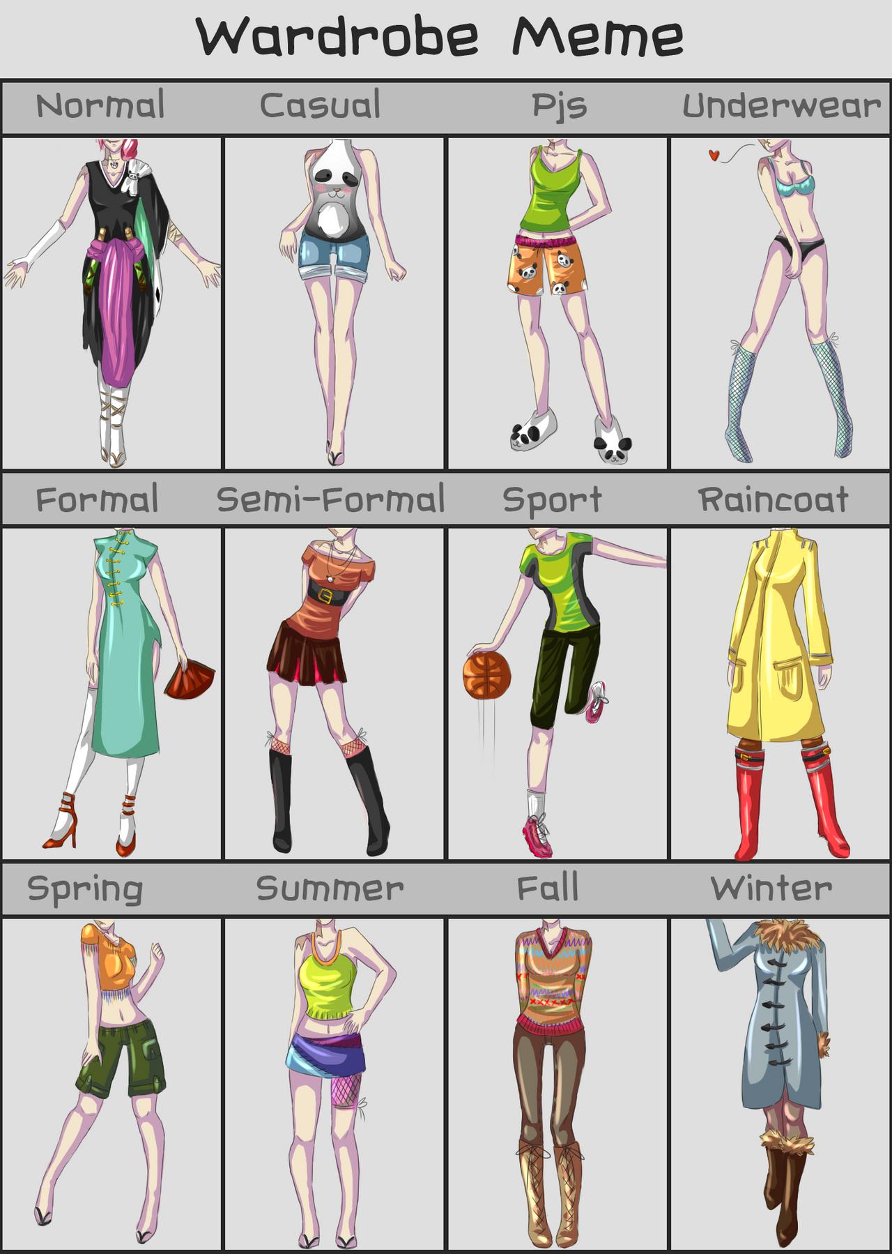 Wardrobe meme: Hanako by Varjopihlaja